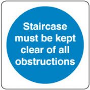 Mandatory Safety Sign - Staircase Must Be 140